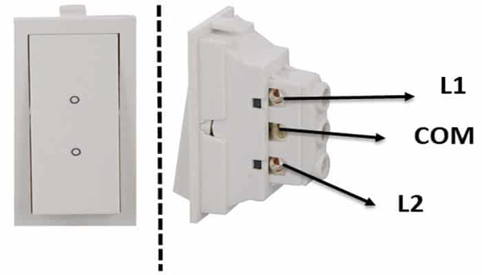 interruptor unipolar de dos vías