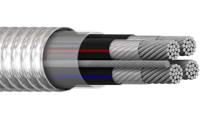 Cable con revestimiento de metal (MC)