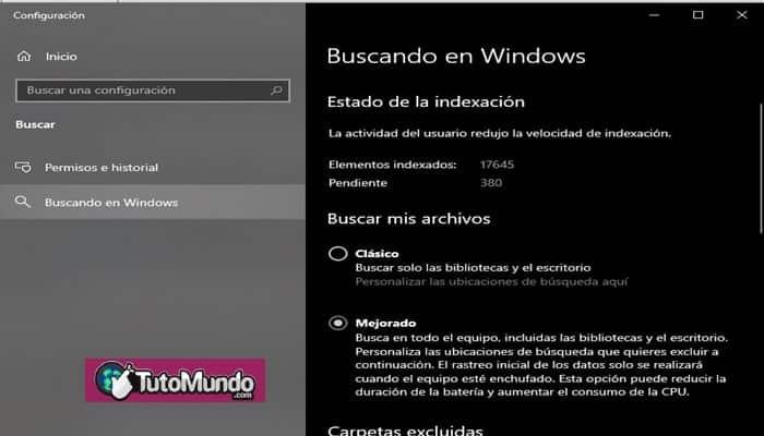 Búsqueda mejorada de Windows