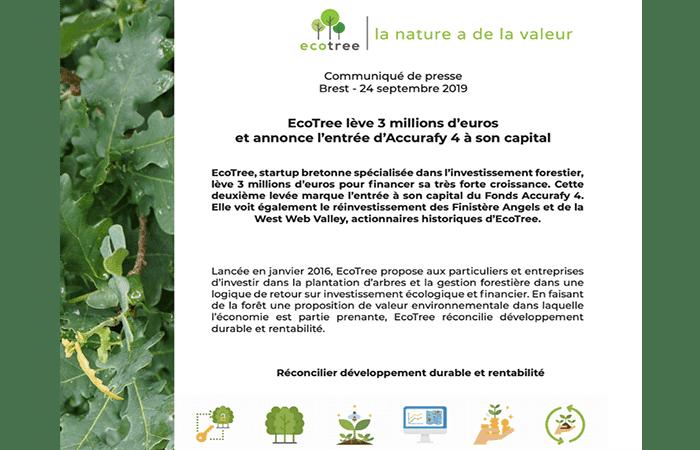 Ecotree recauda 3 millones de euros