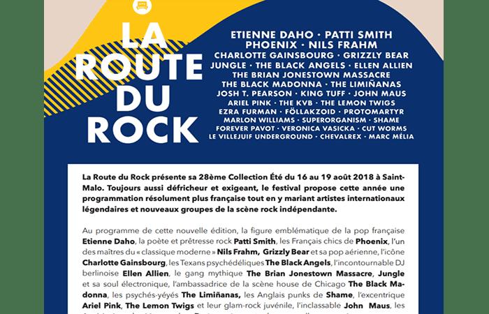 Festival La Route du Rock 2018