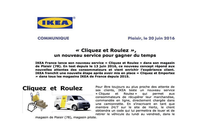 Ikea lanza Click and Roll